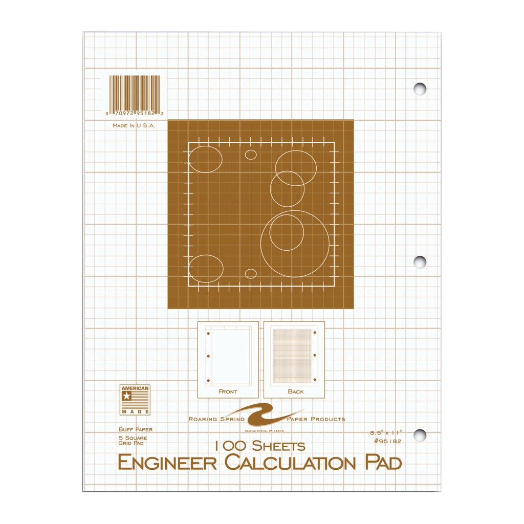 Engineer Calculation Pad Buff 100sh