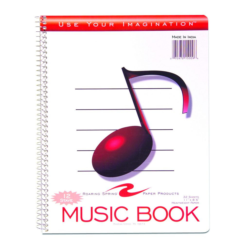 Music Notebook 12 Stave