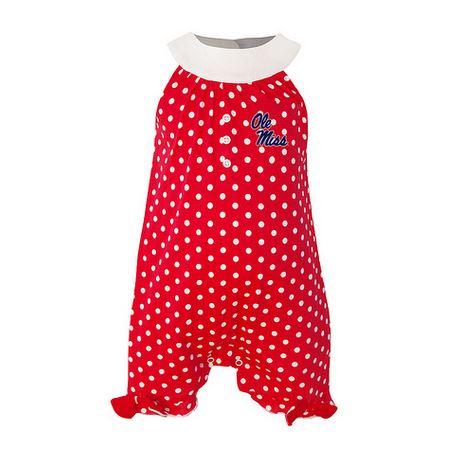 Penny Infant Girl Polka Dot Red Romper