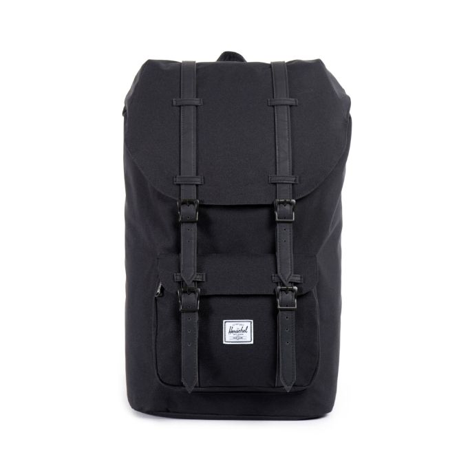 Little America Backpack Black with Black Textured Straps