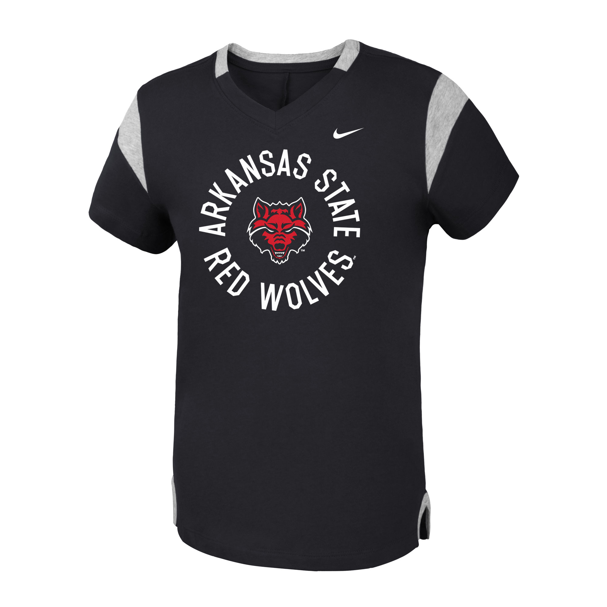 Arkansas State Youth Fan V SS Tee