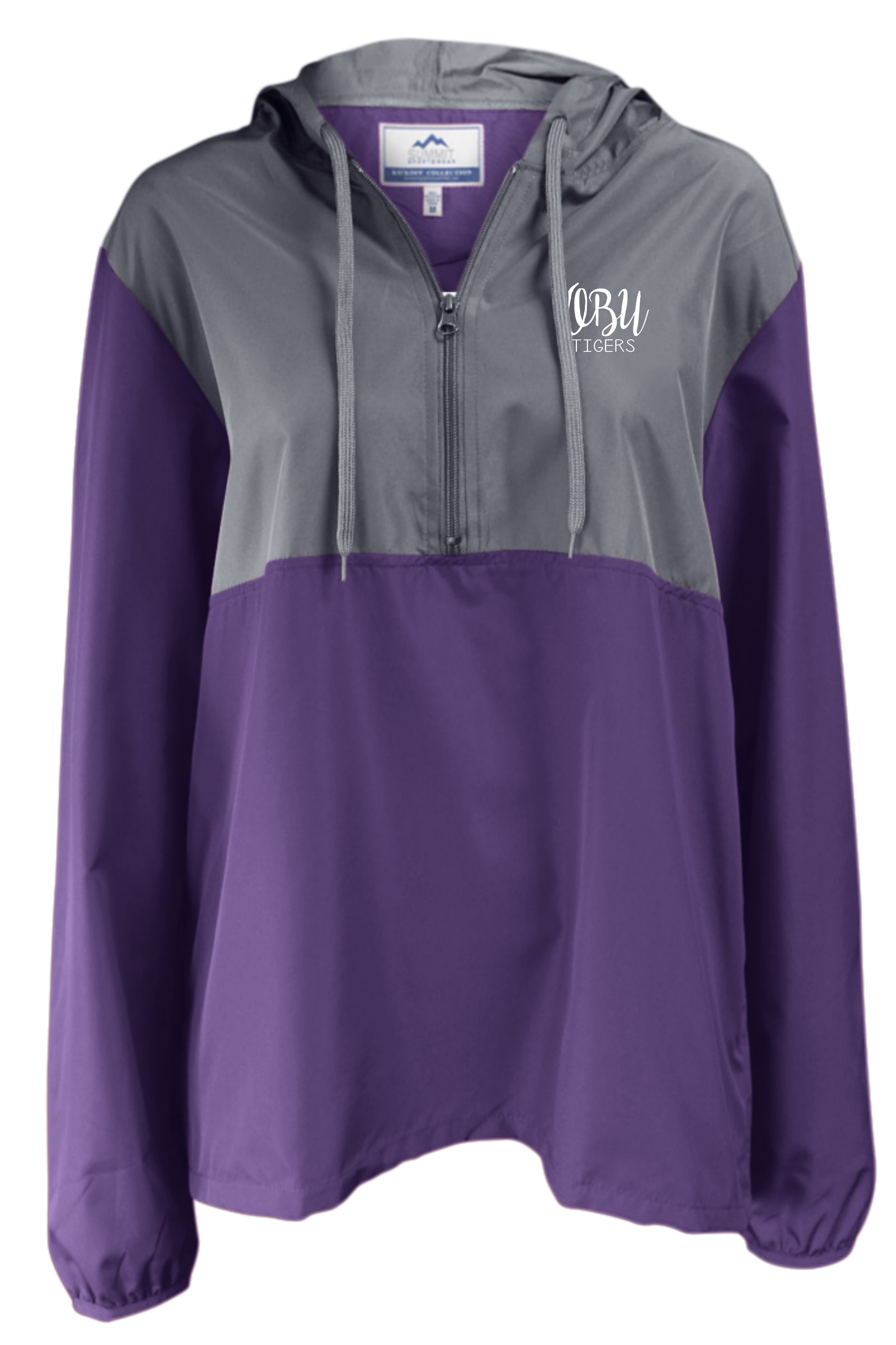 OBU TIGERS 1/2 ZIP WINDBREAKER