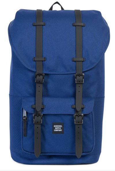 Little America Backpack Twilight with Black Rubber Straps