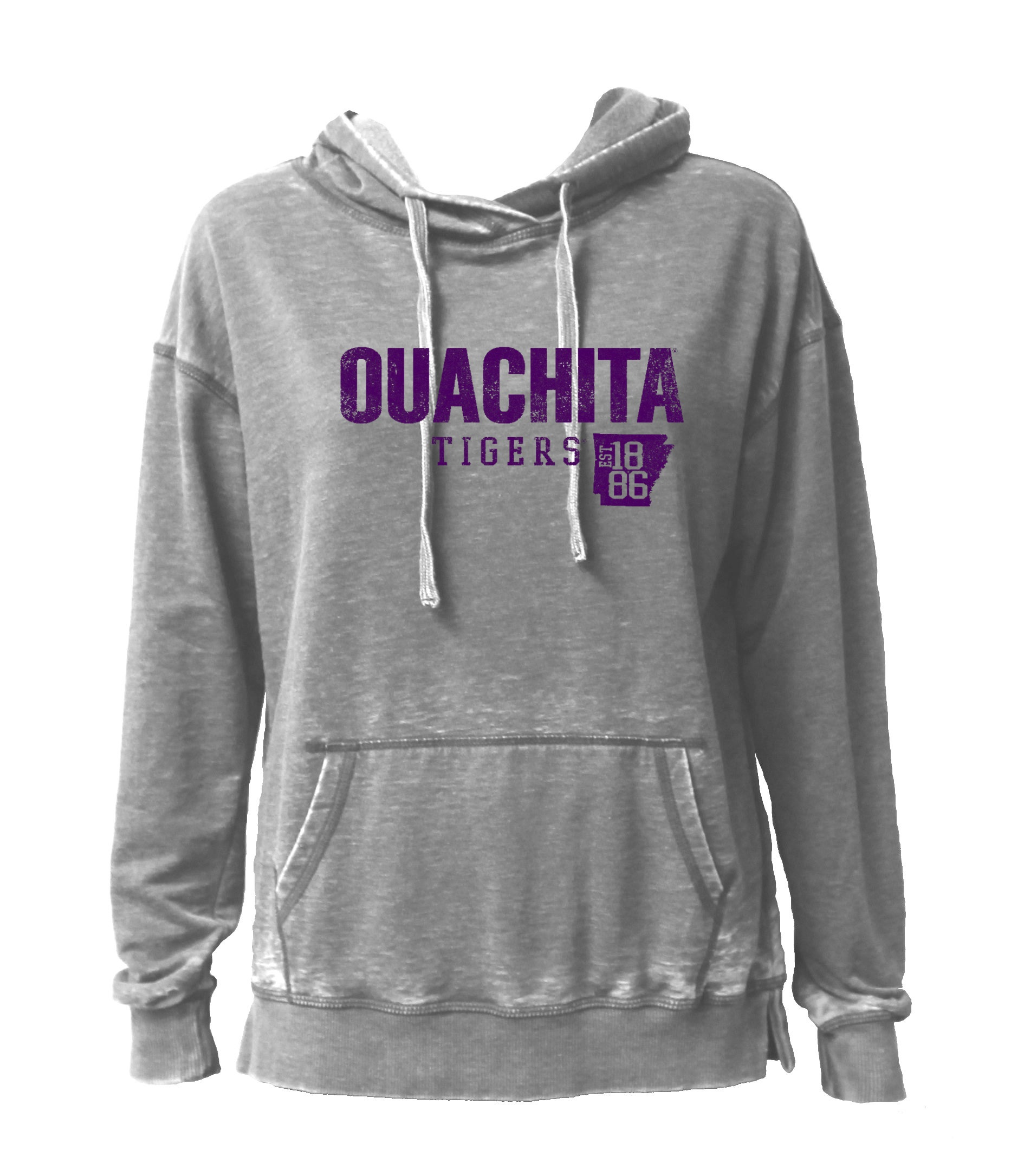OUACHITA TIGERS EST 1886 HOODED PULLOVER