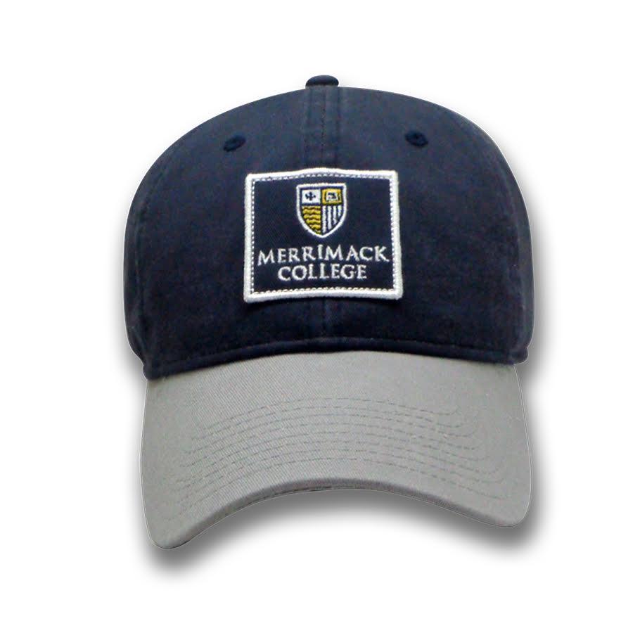 Navy/Grey Patch Hat