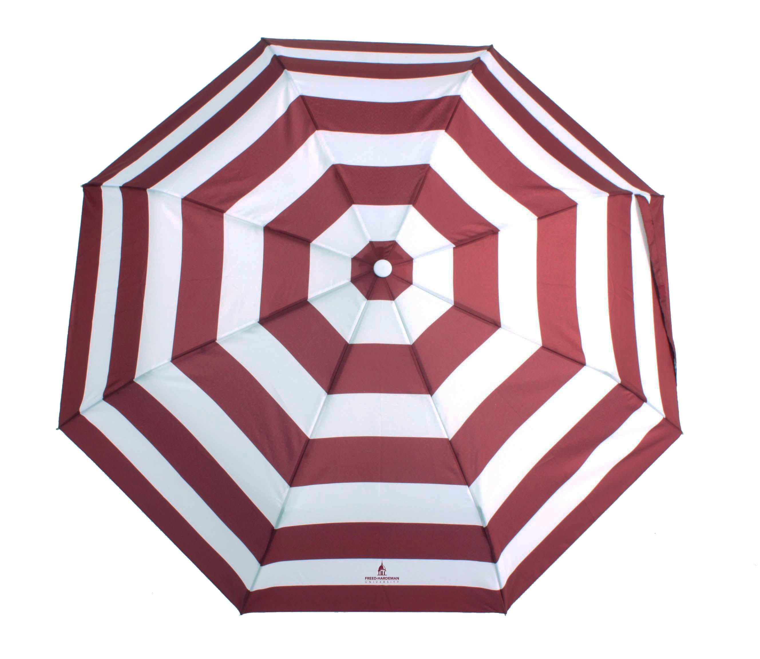 FHU Belltower Striped Cabana Umbrella