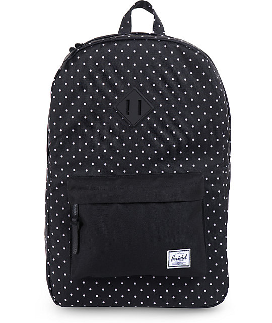Heritage Backpack Black Polka Dot