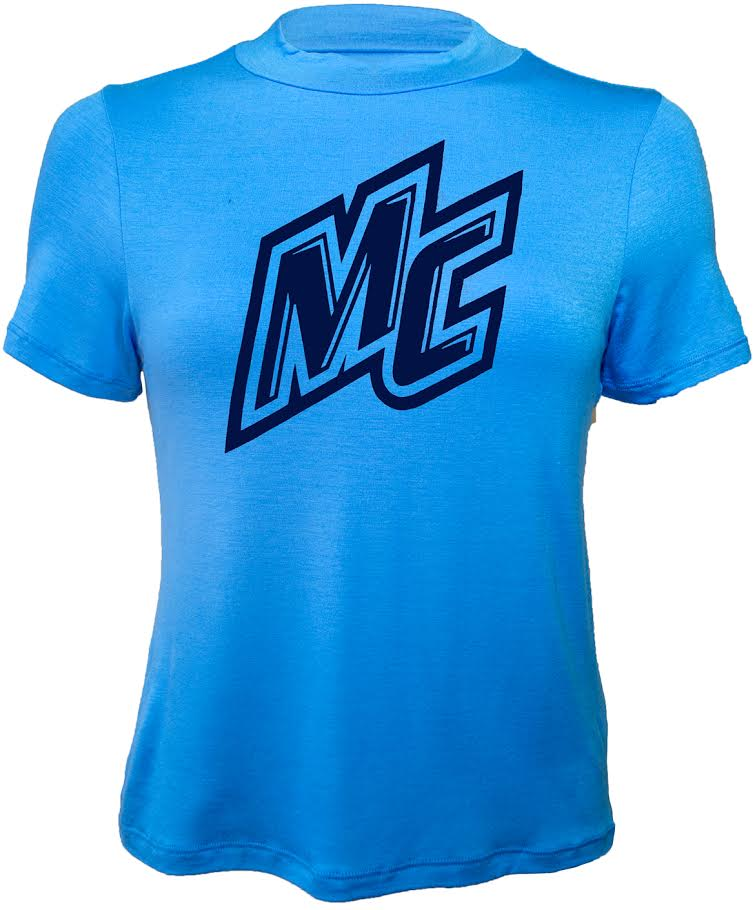 Light Blue Mock Neck Tee