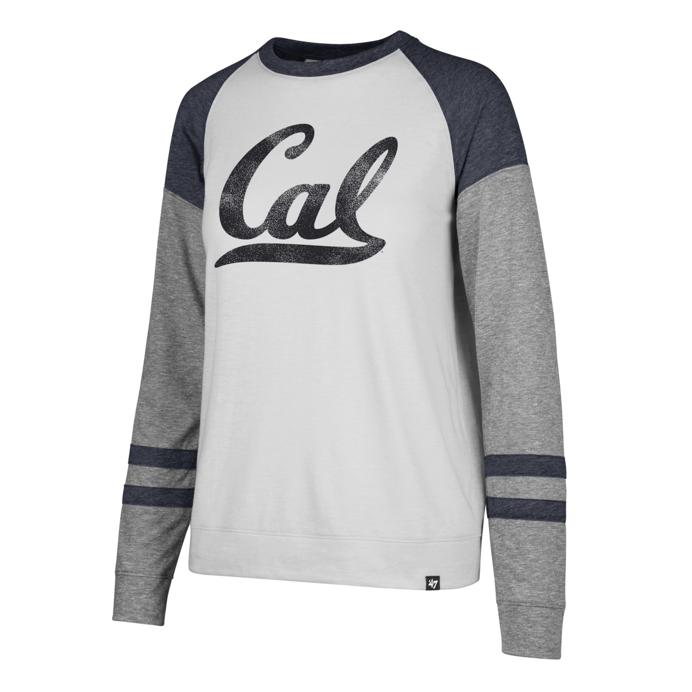 Cal Bears '47 Women's Distressed Imprint Match Long Sleeve Tee