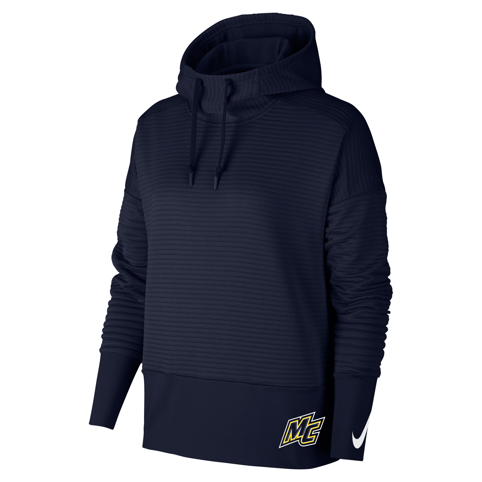 Women's Navy Ribbed Hood