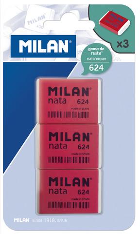 Milan Nata Eraser 3pk