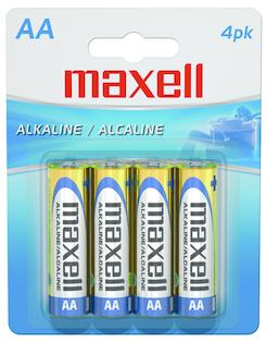 Maxell Alkaline Batteries AA 4Pk