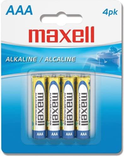 Maxell Alkaline Batteries AAA 4Pk
