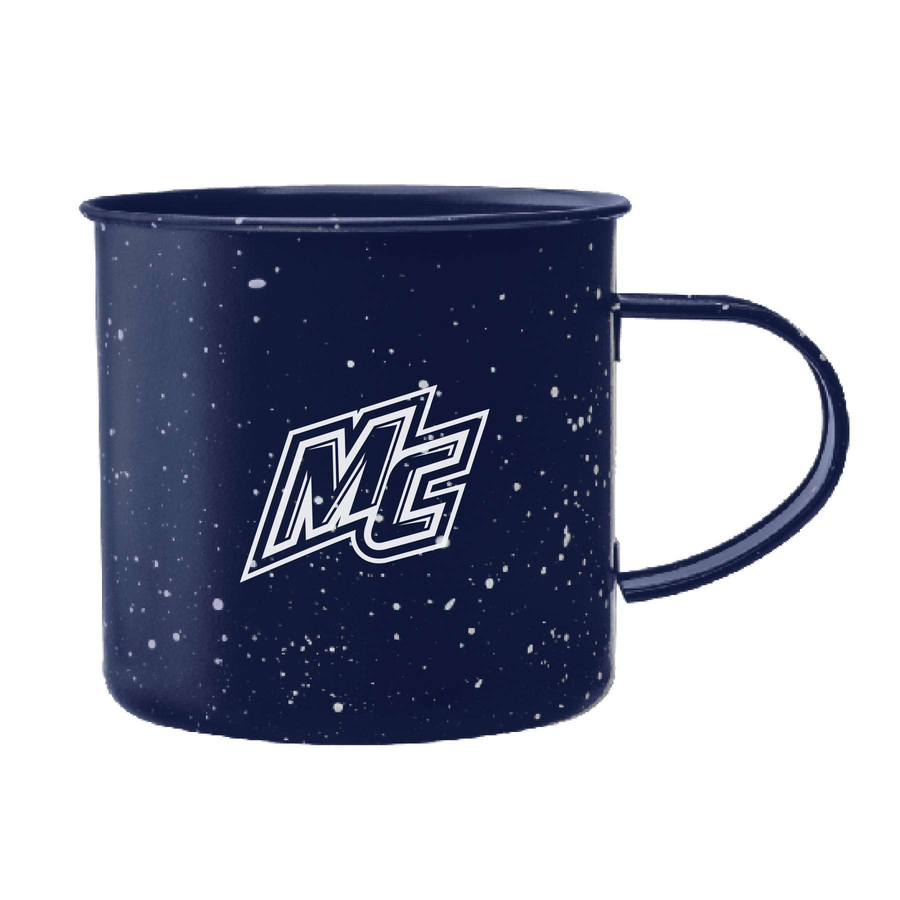 Navy Metal Camping Mug