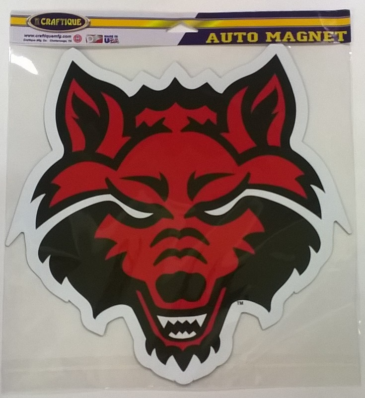 "Red Wolves 12"" Auto Magnet"