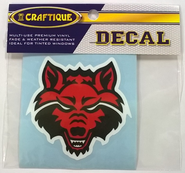 "Red Wolf 3"" Auto Decal"