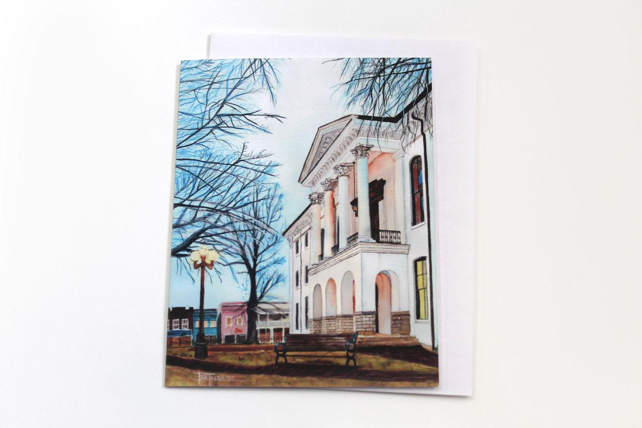 Notecard - Courthouse Evening