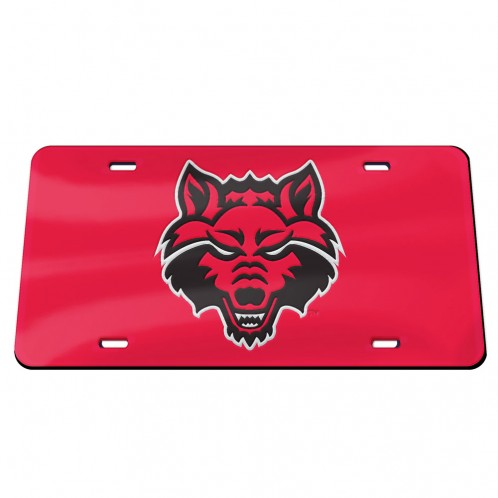 Red Wolves Mirrored Plate