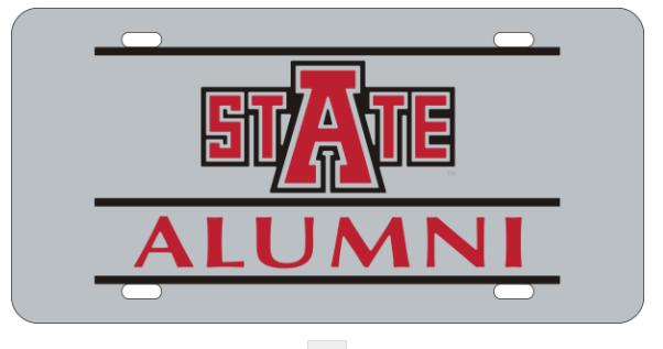 Arkansas State Alumni Mirrored Plate