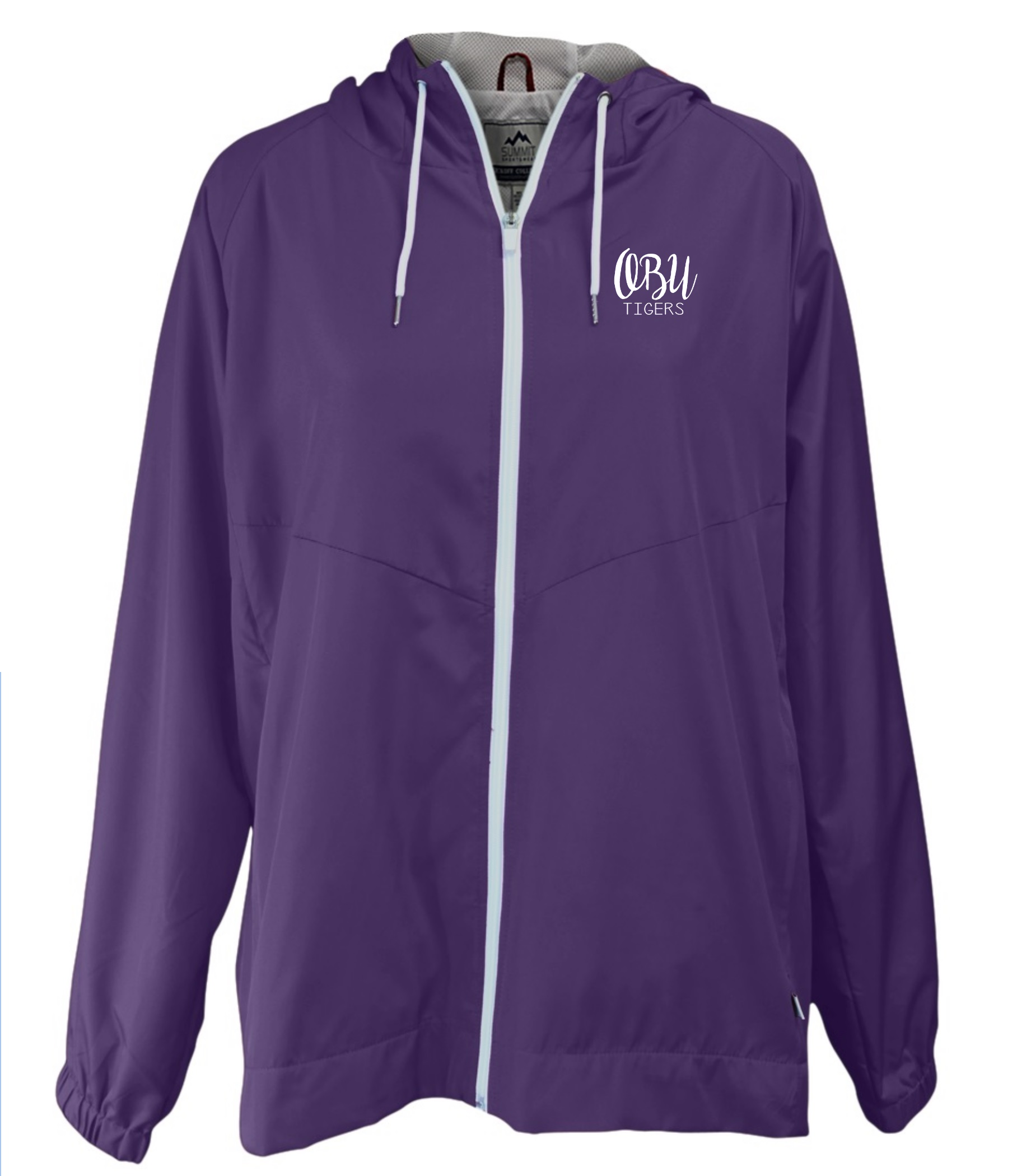OBU TIGERS HOODED RAIN JACKET
