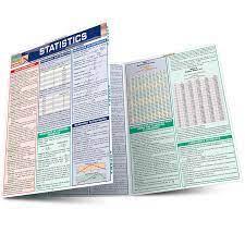 Statistics QuickStudy Laminated Study Guide