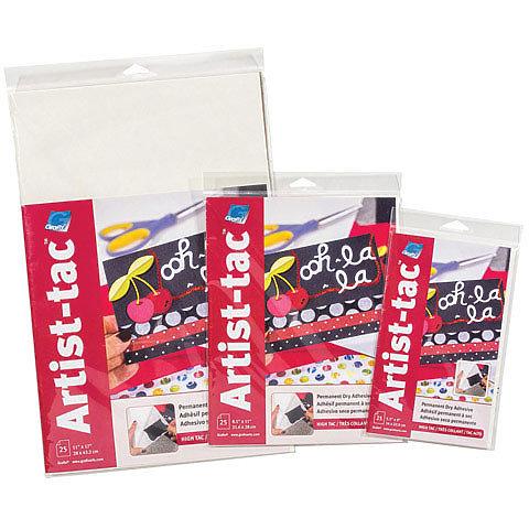 Artist-Tac Dry Adhesive 5.5x9 Sheets 25/pkg