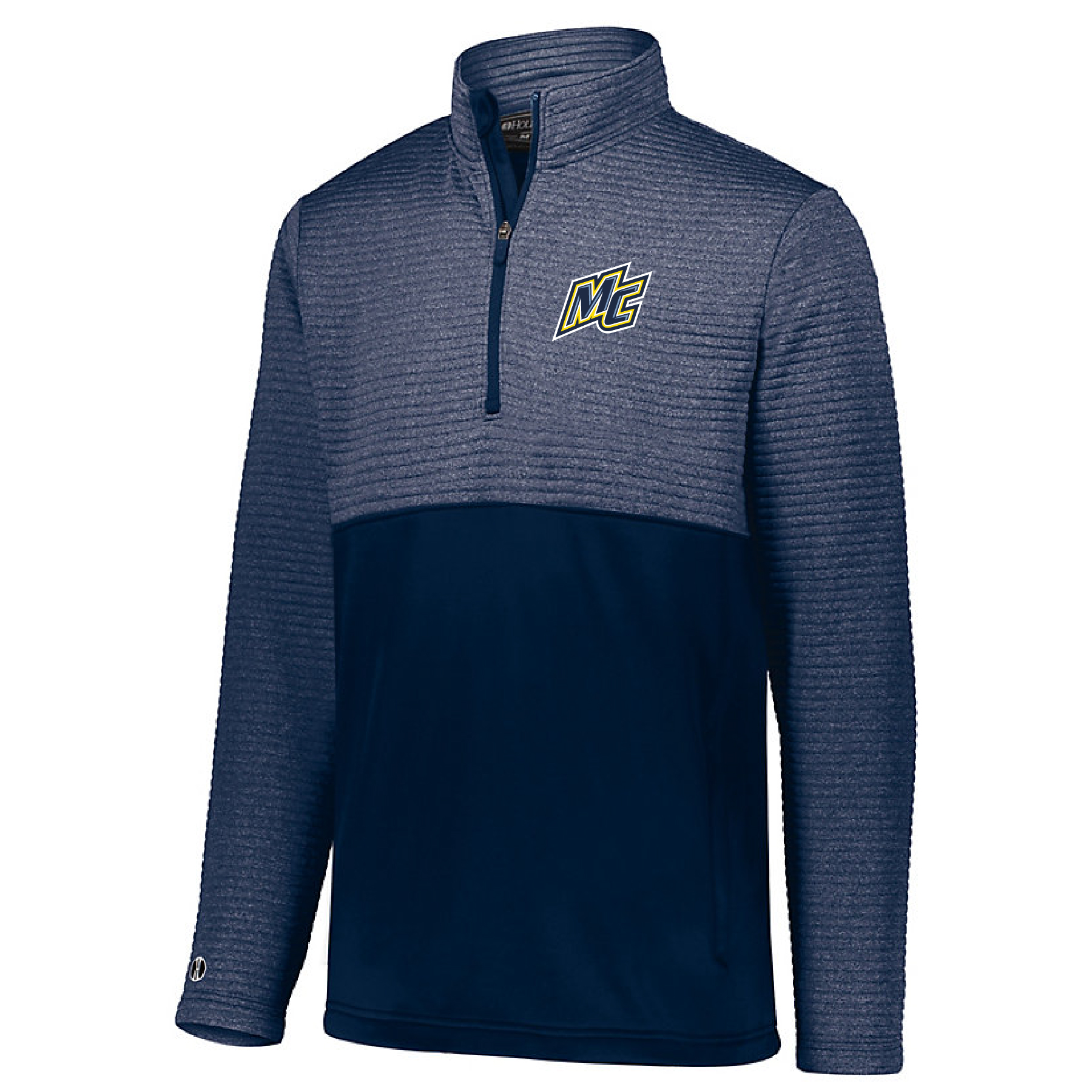Heather Navy 1/4 Zip