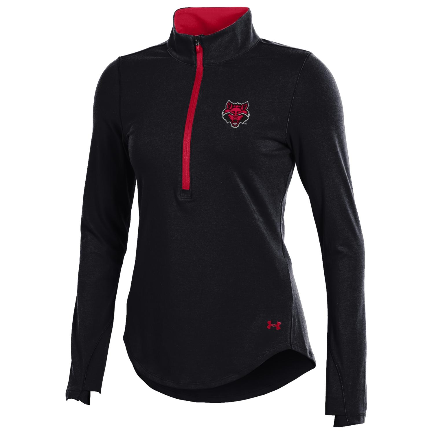 Red Wolves Charged Cotton 1/4 Zip Pullover