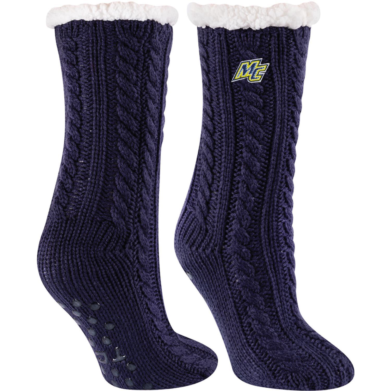 Navy Slipper Sock