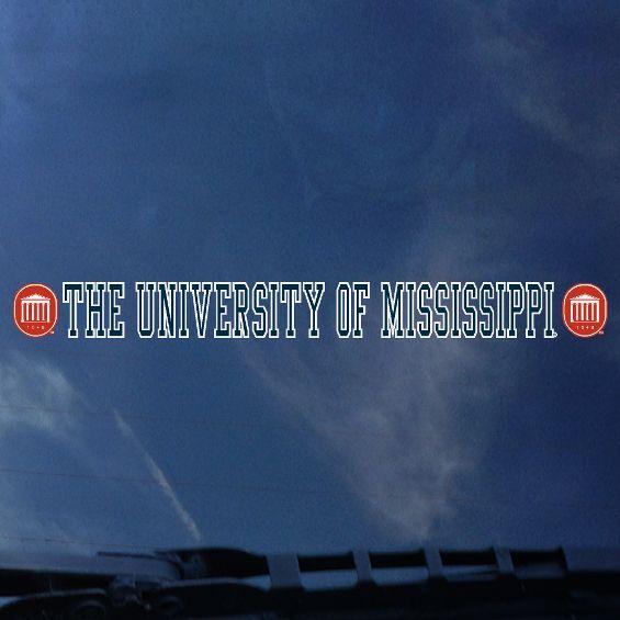 University of Mississippi Strip Decal Navy