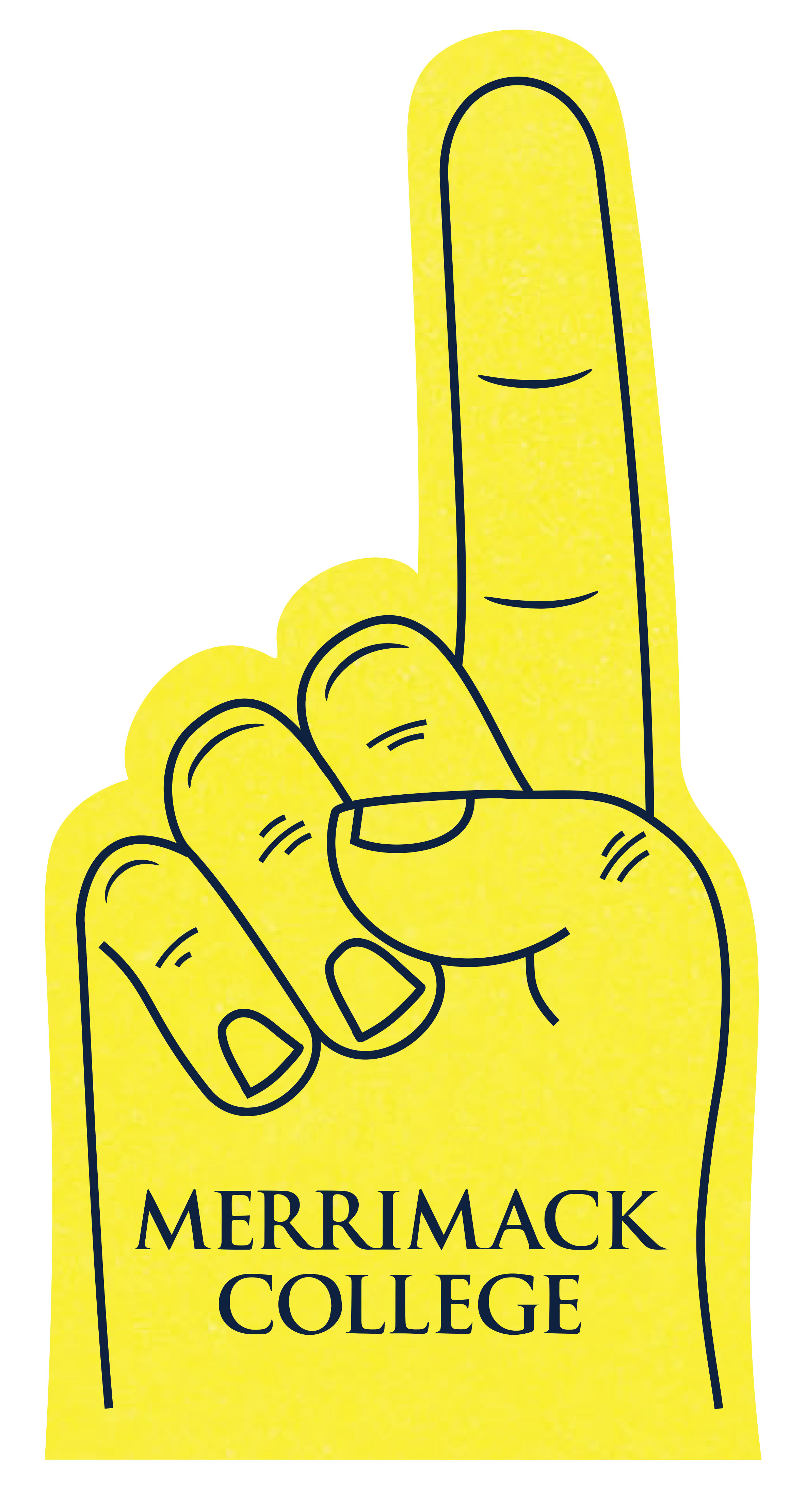 Yellow Foam Finger