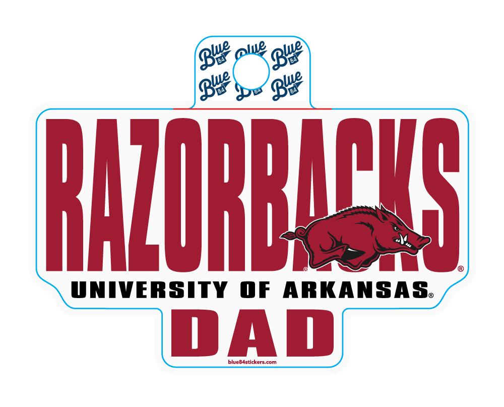 Razorbacks UofA Dad Sticker
