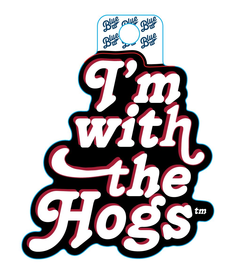 'I'm with the Hogs' Retro Sticker