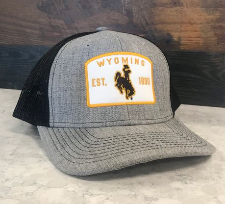 Wyoming Trucker Cap with Patch Design