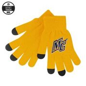 Yellow Knit Texting Gloves
