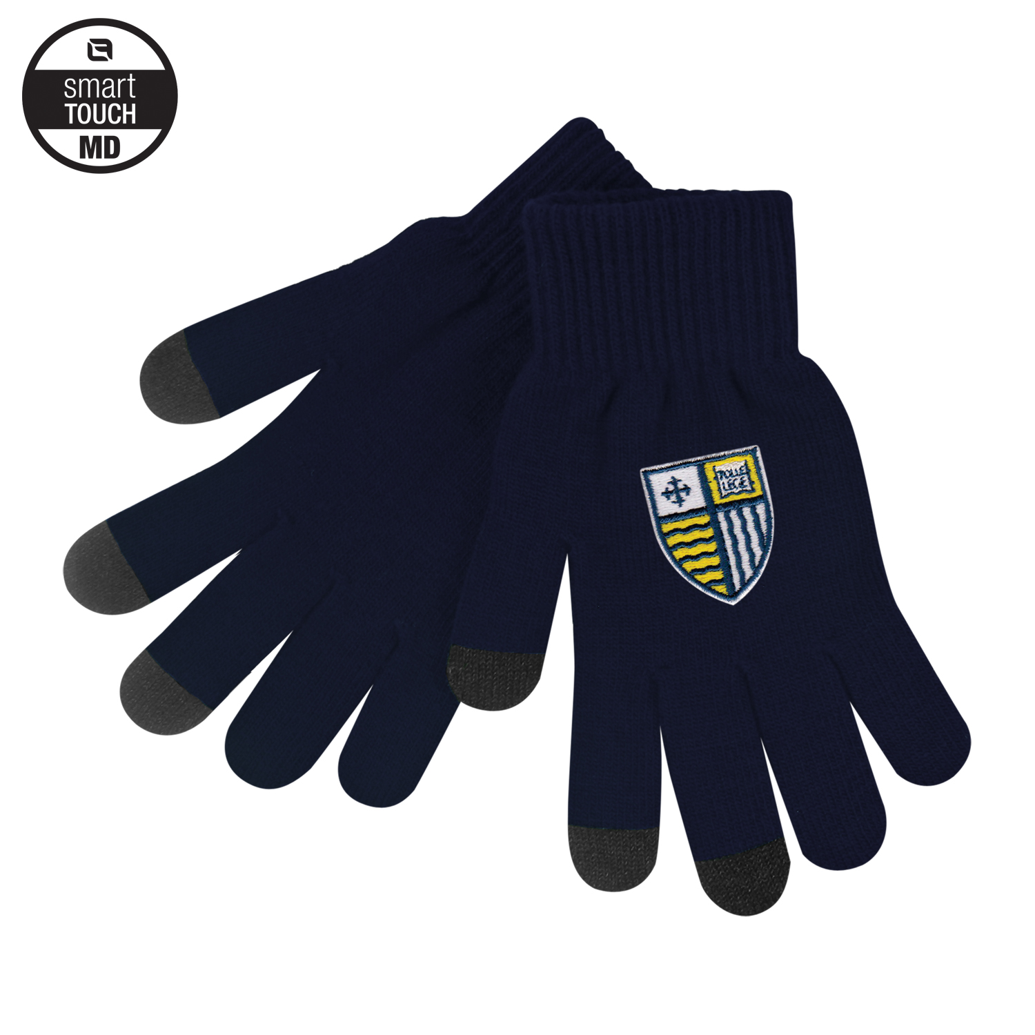 Navy smart touch gloves
