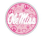 Round Pink Peace Decal