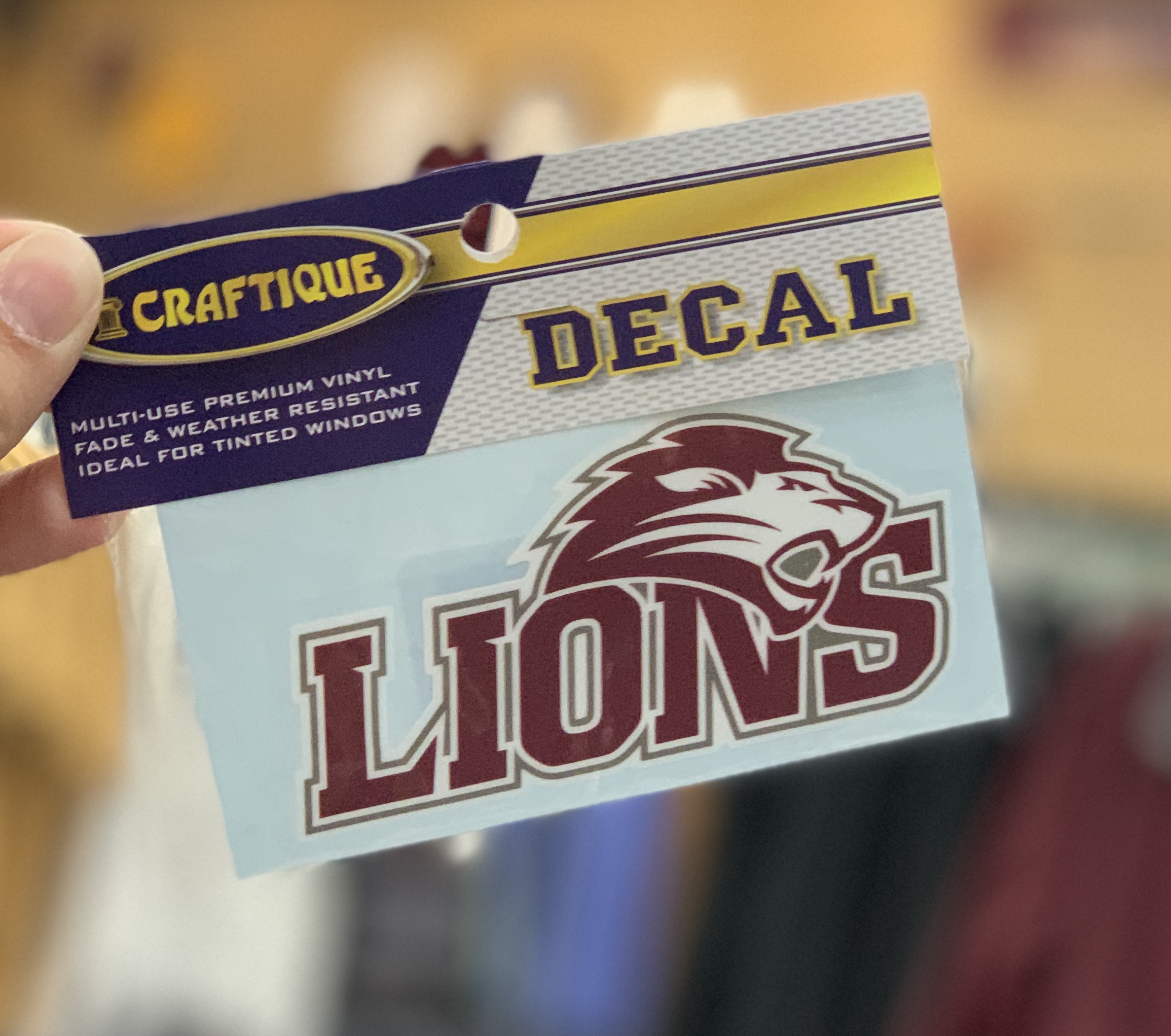 FHU Lions Decal