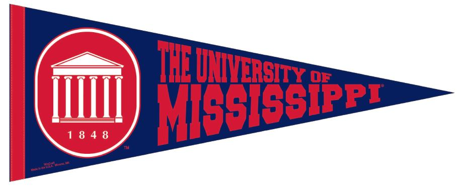 University of Mississippi Pennant 30in x 12in
