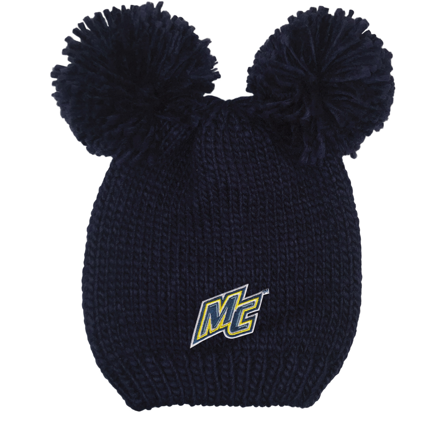 Youth Navy Double Pom Hat