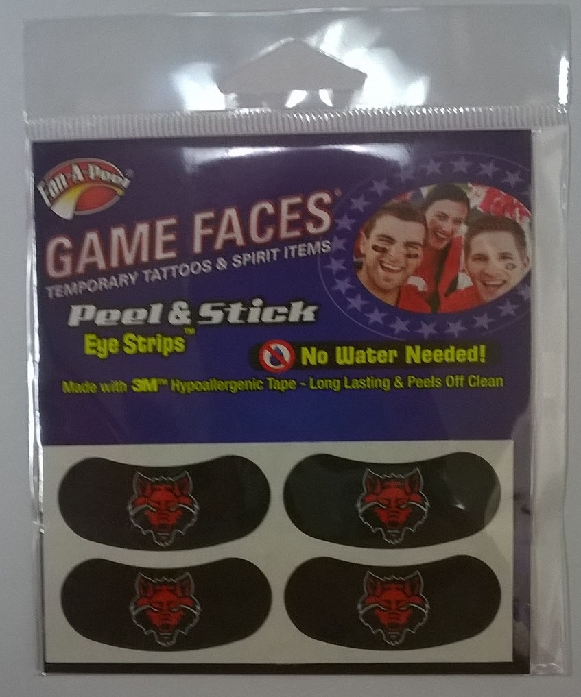 Red Wolves Temporary Eye Strips