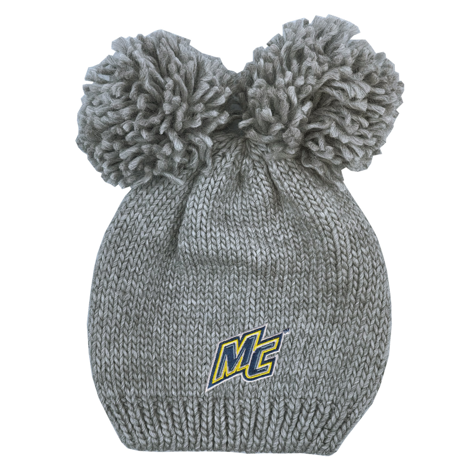 Youth Gray Double Pom Hat