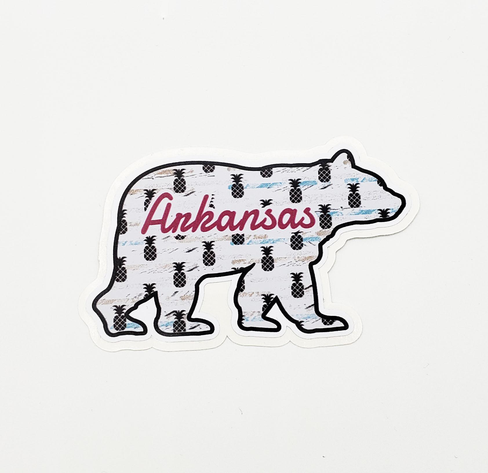 Pineapple Bear Sticker