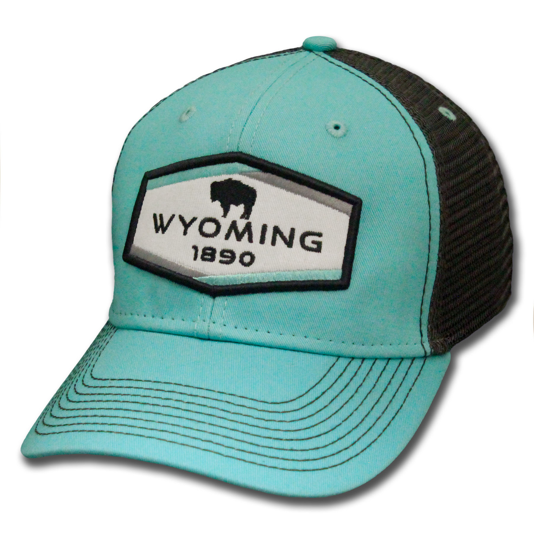 Women's Teal Wyoming Patch Snapback Hat