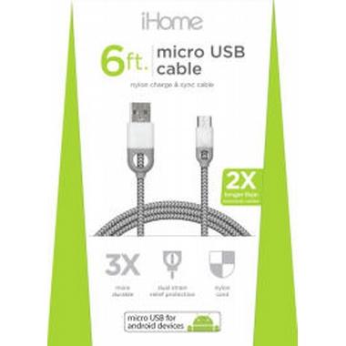 iHome Nylon Micro USB Cable