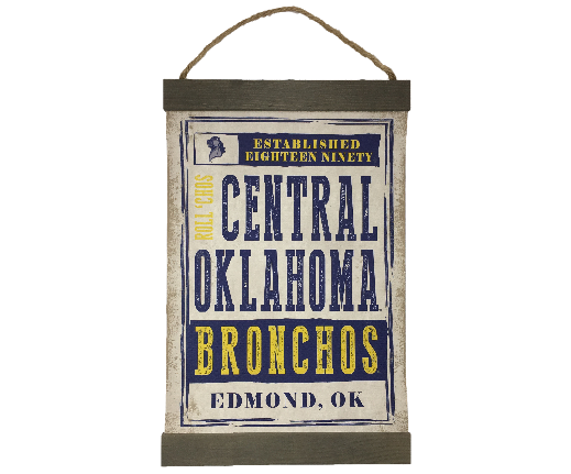Central Oklahoma Bronchos Decorative Canvas Flag
