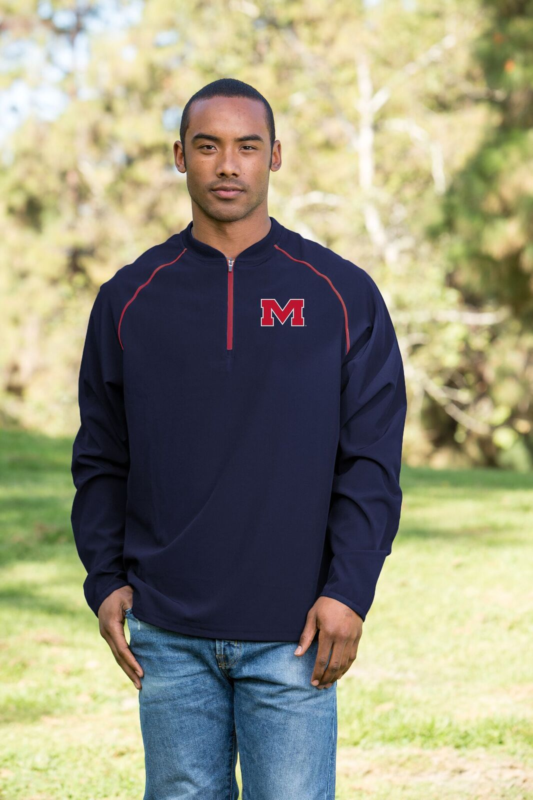 The Bigs Quarter Zip Windbreaker