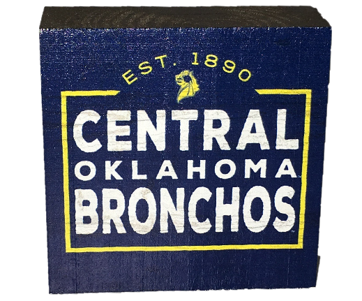 Central Oklahoma Bronchos Wood Decor