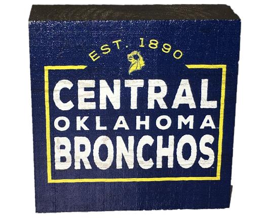 Central Oklahoma Bronchos Wood Decor