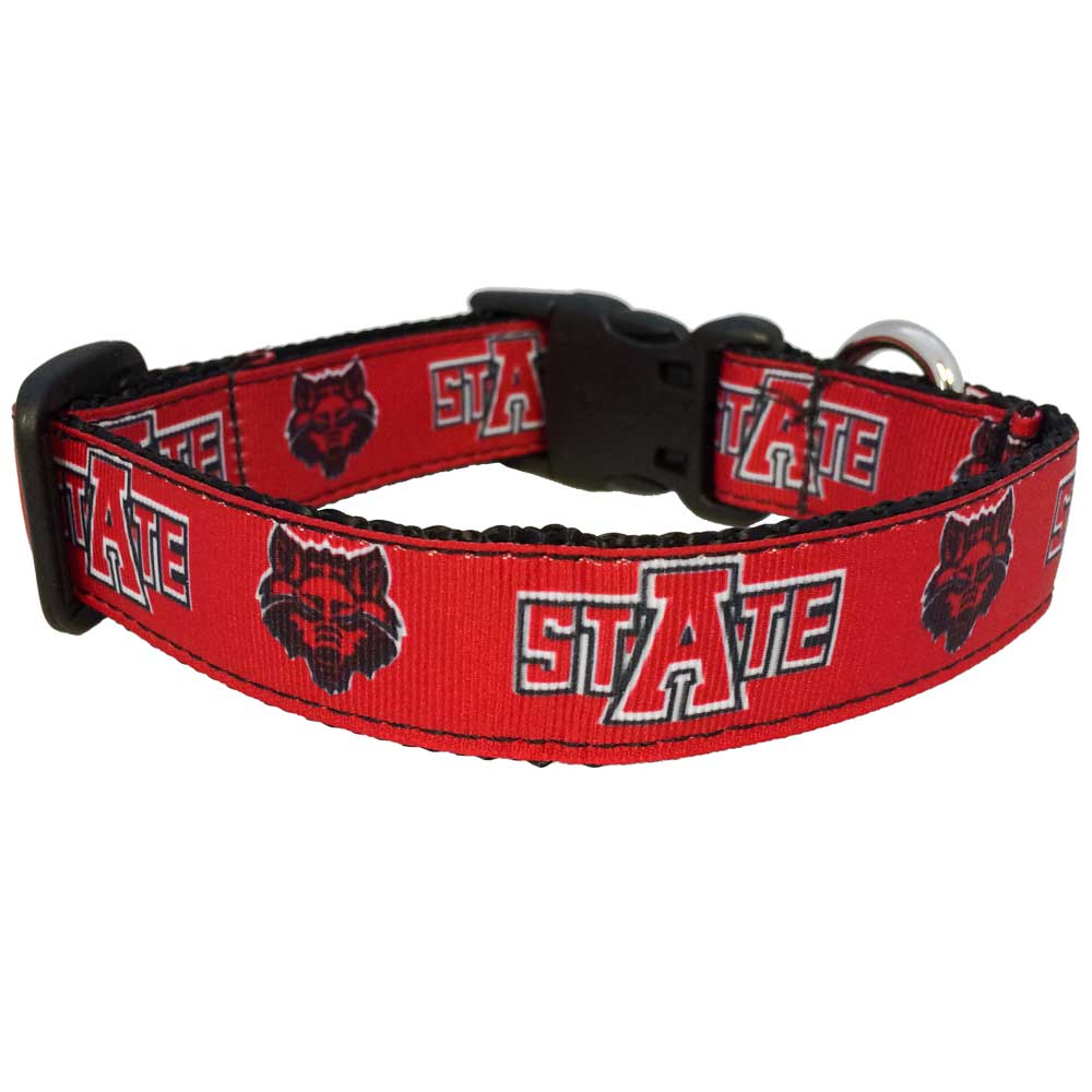 Red Wolves Dog Collar